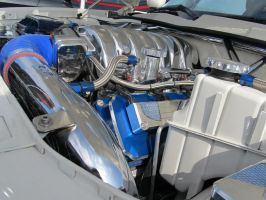 Blue and White Charger 2 by KateKannibal