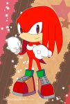 Sonic Postcard - Classic Knuckles by destinal