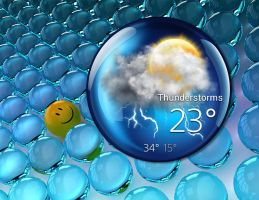 Sphere Weather for xwidget by jimking