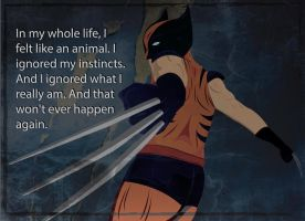 Wolverine Vector Quote Wallpaper by KlutzyDuck