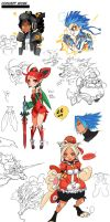 Sketch dump 4: OC concept work by OverlordJC
