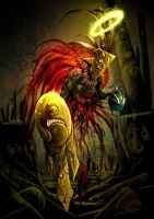 fallen shaman angel by unded