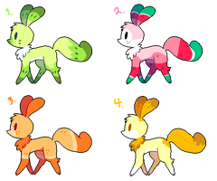 little creature adoptables by Sour-Poffin