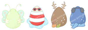 Wish Eggs Adopts: Seasonal (3/4 open) by Cupcake-Kitty-chan