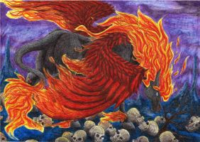 Pegasus of darkness by kxeron