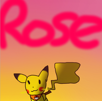 Pikachu Rose by Oshawatt10024
