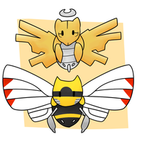Ninjask and Shedinja by LexisSketches