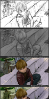 Coloring Process for Waiting for Rain by OverVenture
