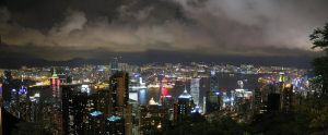 Hong Kong at Night by denn