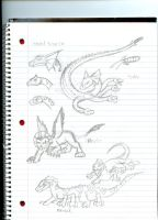 Even more kaiju concepts by Dinoboy134