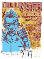 Dillinger Escape Plan Poster by arosenlund