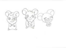 Sketch: hamtaro 3 by spot1the2dog3