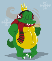 King K. Rool out cold by Ribbedebie