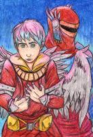 Malideiter and Puppet - Crayon by Zimeta