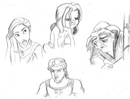 Disney Sketches 2 by Hunchdebunch