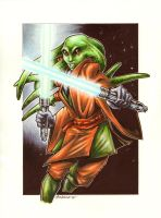 Kit Fisto Commission by Axebone