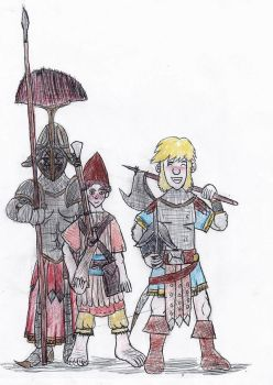 Dwarven soldiers by TheReptilianGeneral