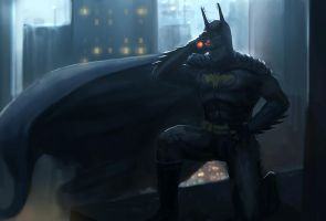 Batman Lookout by Bamoon