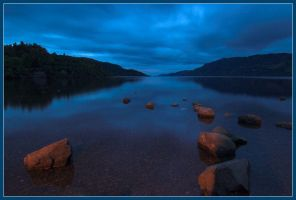 Loch Ness Nightfall by handfat