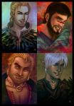 Dragon Age 2 - Characters 1 by lux-rocha