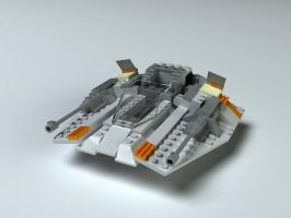 Lego Snow Speeder by Zortje