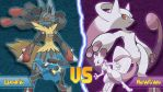 Mega Mewtwo Vs Mega Lucario by Monstradon