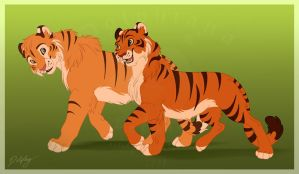 Tiger Buddies by DolphyDolphiana
