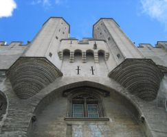 Entry to the Palace of the Popes in Avignon by Syltorian