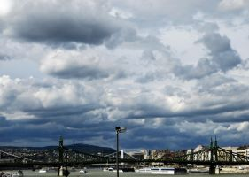 Clouds over the Danube 1. by julia51