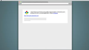 Chrome couldn't load the page by vtemuedra