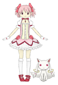 Madoka and Kyuubey by GuardGate