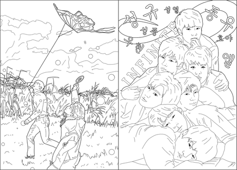 My kpop colouring pages by SMoran