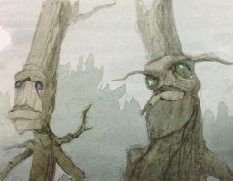 Young Ents # art by SylvanCreatures