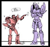 Knockout Meets Cyclonus by Laserbot