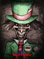 The Mad Hatter (pen sketch) by jokercrazy