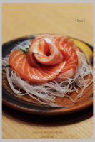 Salmon Belly Sashimi by viennidemizerable