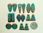 Blue green copper earring pairs by Sweet2Spicy