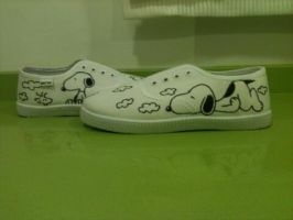 Snoopy shoes by anapeig