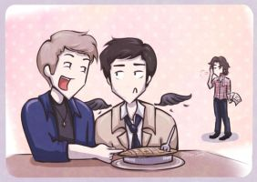 Give pie a try Cas by Star-Jem