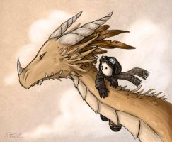 Dragon rider by p-korle