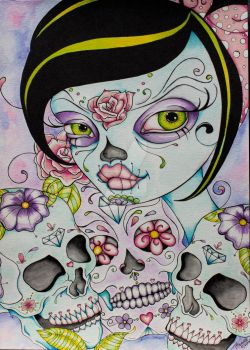 Lady Calavera by concettasdesigns