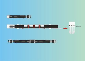 Lightsaber HILT Corel Draw by ajtopper