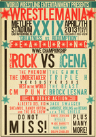 WWE Wrestlemania 29 Poster by RicGrayDesign