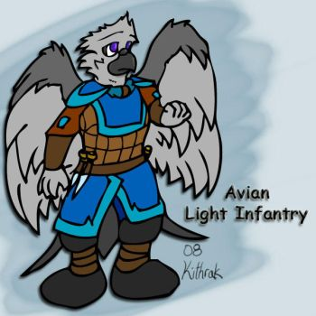 Light Avian Infantry - Concept by Kithrak