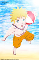 Naruto en la Playa by DaanitMC