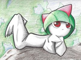 Ralts by KillerCandyCane