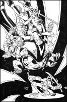 TMNT New Animated Adventures 21 Cover INKS by Red-J