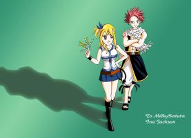 Lucy and Natsu of Fairy Tail by Sersiso