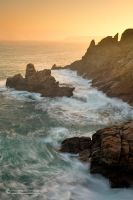 Sunrise at Pointe du Raz by matthieu-parmentier