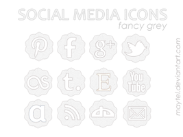 social media icons - fancy grey by maytel